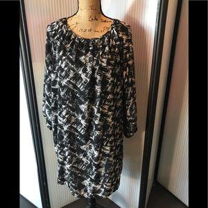 Rayon five dress. Beautiful abstract fabric.